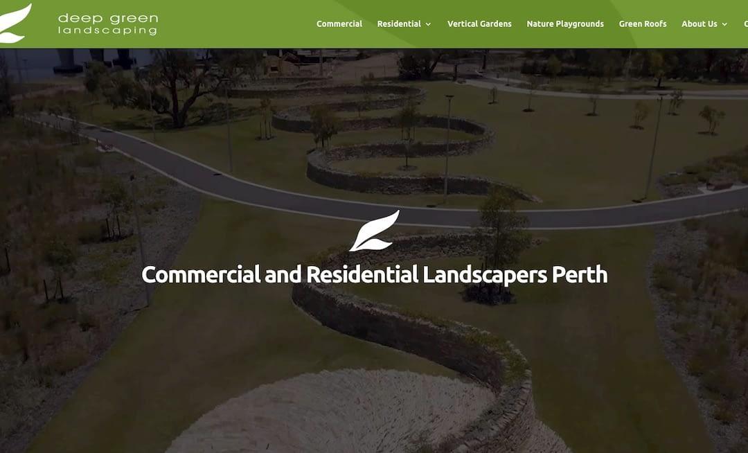 Deep Green home page screenshot