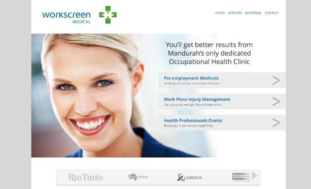 Work Screen Occupational Health Website