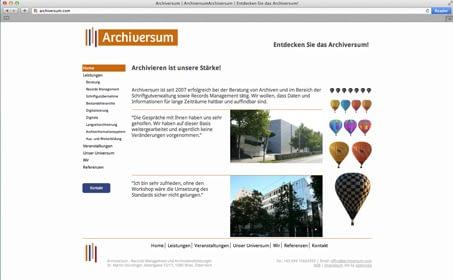 Archiversum website