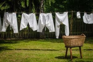 washing line of undies